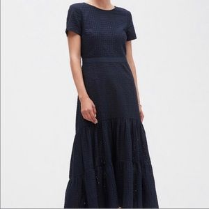 Banana Republic Navy Eyelet Dress